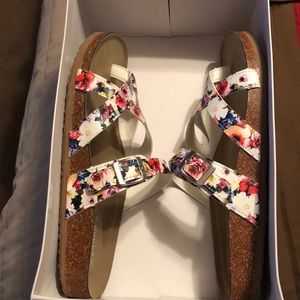 Multi color with flower print slides
